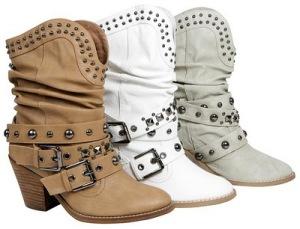 botines estilo cowboy