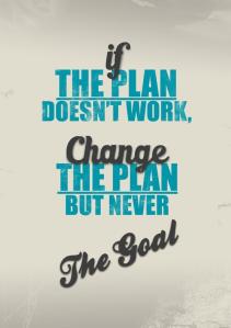 Cambia el plan pero no la meta
