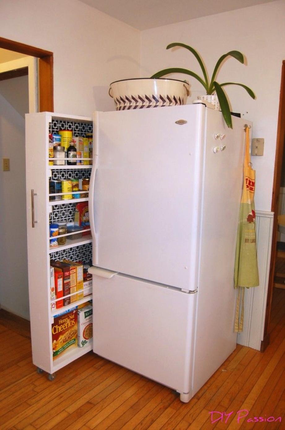 Встроенный шкаф для холодильника своими руками