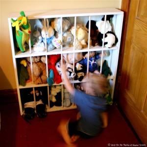 Ideas para organizar los muñecos de peluche