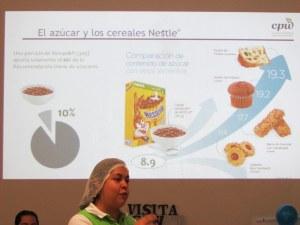 El azúcar y los cereales Nestlé