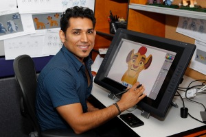 "THE LION GUARD - Production offices of ""The Lion Guard."" (Disney Junior/Rick Rowell) JOSE ZELAYA (CHARACTER DESIGNER)"