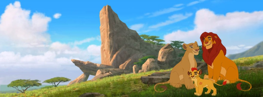 "THE LION GUARD - The epic storytelling of Disney's ""The Lion King"" continues with ""The Lion Guard: Return of the Roar,"" a primetime television movie event starring Rob Lowe, Gabrielle Union and James Earl Jones, reprising his iconic role as Mufasa.  Premiering this November on Disney Channel, the movie follows Kion, the second-born cub of Simba and Nala, as he assumes the role of leader of the Lion Guard, a team of animals tasked with preserving the Pride Lands. ""The Lion Guard"" television series will premiere in early 2016 on Disney Channels and Disney Junior channels around the globe. (Disney Junior) NALA,  KION, SIMBA"